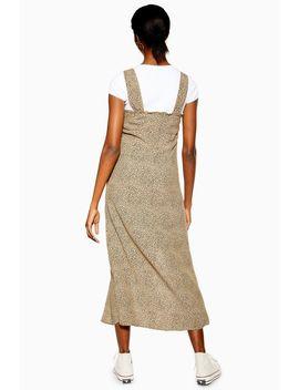 Spot Split Front Midi Dress by Topshop