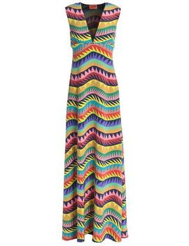 Printed Silk Blend Crepe Maxi Dress by Missoni