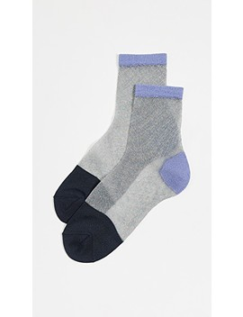 Lurex Franca Ankle Socks by Hysteria