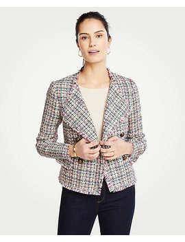 Petite Tweed Cascade Jacket by Ann Taylor
