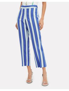 Striped Crop Trousers by Derek Lam 10 Crosby