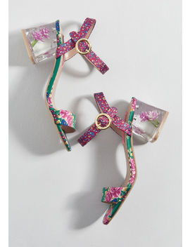 Beauty In Bloom Block Heel by Betsey Johnson
