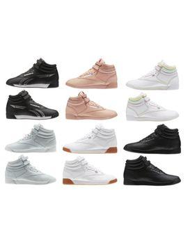 New Reebok Women's Fashion Shoes Freestyle Hi Fbt Retro Leather Sneakers by Reebok