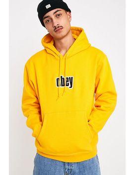 Obey Warp Ii Gold Hoodie by Obey
