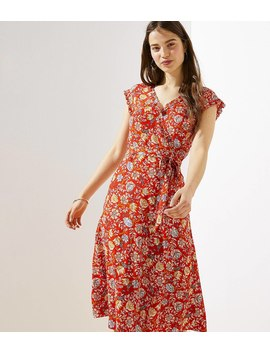 Floral Ruffle Wrap Dress by Loft