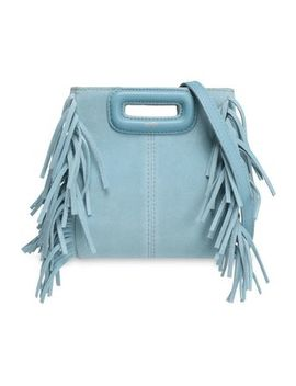 Mini M Fringed Suede Shoulder Bag by Maje