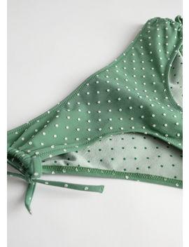 Side Tie Polka Dot Bikini Briefs by & Other Stories