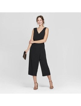 Women's Sleeveless V Neck Jumpsuit   A New Day™ Black by A New Day