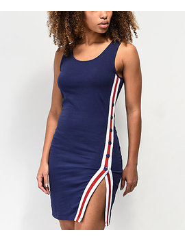 Empyre Aaliyah Side Striped Navy Dress by Empyre