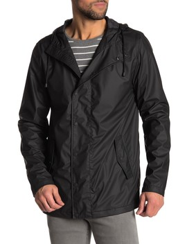 Long Hooded Slicker Jacket by Weatherproof