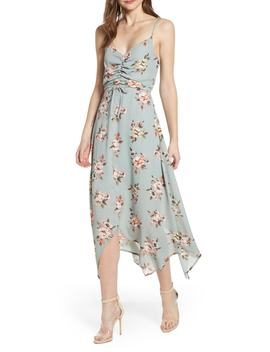 Floral Cinch Front Maxi Dress by Row A