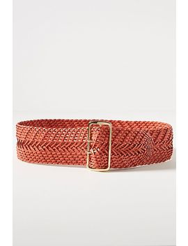 Woven Waist Belt by Linea Pelle