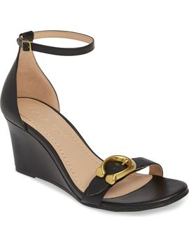Odetta Wedge Ankle Strap Sandal by Coach