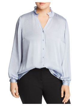 Ruffled Collar Blouse by Vince Camuto Plus