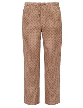 String Arrow Elasticated Waist Satin Trousers by Needles