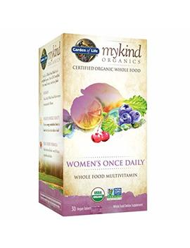 Garden Of Life Multivitamin For Women   Mykind Organic Women's Once Daily Whole Food Vitamin Supplement, Vegan, 30 Tablets by Garden Of Life