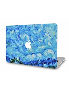 Luv Case Rubberized Plastic Hard Shell Cover Compatible Mac Book Pro 13 Inch A1989 / A1708 / A1706 With/Without Touch Bar, Newest Release 2019/2018/2017/2016 (Oil Paint Sky) by Luv Case
