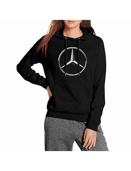 Cusoul Womens Ladies Sweatshirt Mercedes Benz Logo  Fleece Long Sleeve Pullover by Cusoul