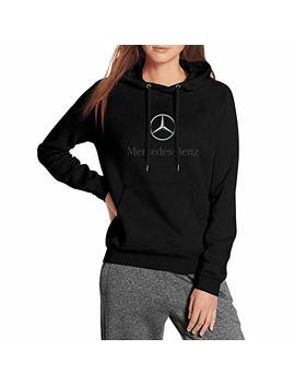 Lhysjd Womens Fleece Black Pullover Hoodie Sweatshirts Mercedes Benz Logo Symbol Emblem Warm by Lhysjd