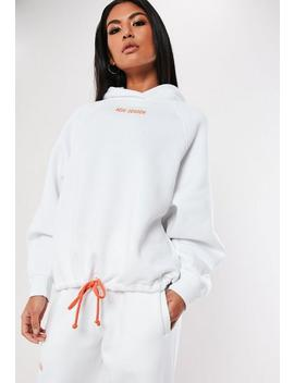 White New Season Embroidered Slogan Hoodie by Missguided