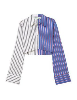 cropped-striped-cotton-twill-shirt by off-white