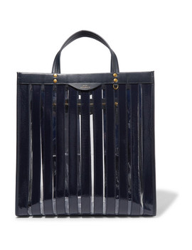 Multi Stripes Patent Leather And Vinyl Tote by Anya Hindmarch
