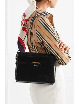 Large Patent Leather Shoulder Bag by Burberry