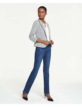Curvy Straight Leg Jeans In Light Indigo Wash by Ann Taylor