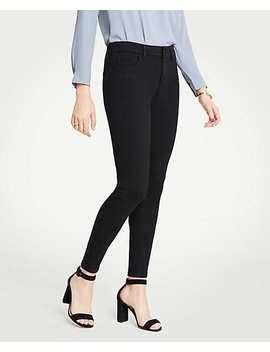Curvy Performance Stretch Skinny Jeans In Black by Ann Taylor