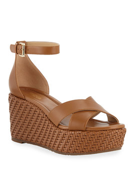Desiree Woven Wedge Sandals by Michael Michael Kors