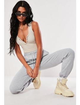 Grey Marl Oversized 90s Joggers by Missguided