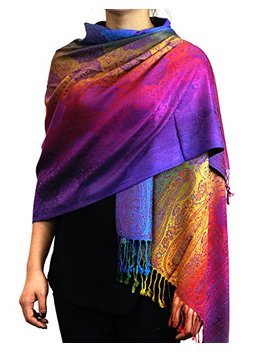 Nyfashion101 Elegant Colorful Paisley Soft Pashmina Scarf Shawl Wrap Nbh1401 Y by Nyfashion101