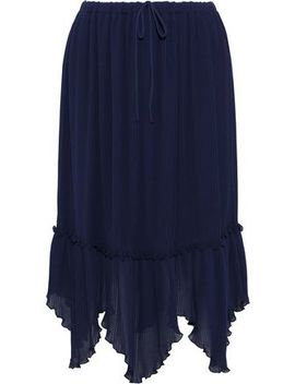 asymmetric-plissé-chiffon-midi-skirt by see-by-chloÉ