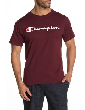 Classic Logo Print Short Sleeve Tee by Champion