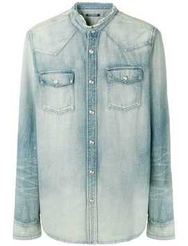 Distressed Denim Shirt by Balmain