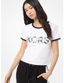 Embellished Cotton Jersey T Shirt by Michael Michael Kors