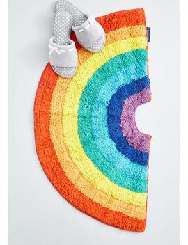 Instant Vibrance Rainbow Bath Mat by Modcloth