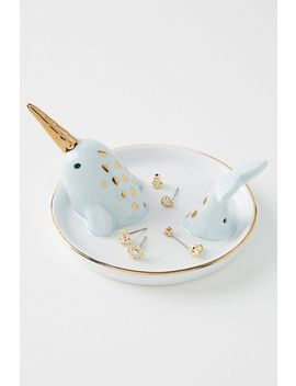 narwhal-trinket-dish by anthropologie