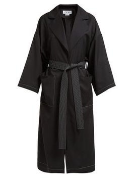 Belted Twill Overcoat by Loewe