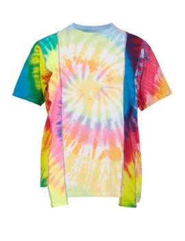 Psychedelic Panel Cotton T Shirt by Needles