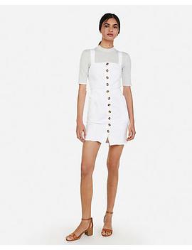 Button Front Denim Mini Dress by Express