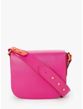 John Lewis & Partners Avery Leather Small Cross Body Bag, Pink by John Lewis & Partners