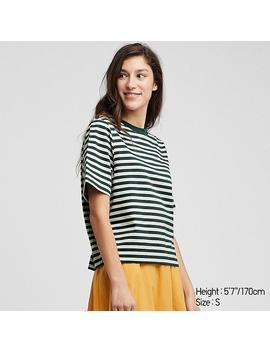 Damen VerkÜrztes T Shirt Mit Streifen by Uniqlo
