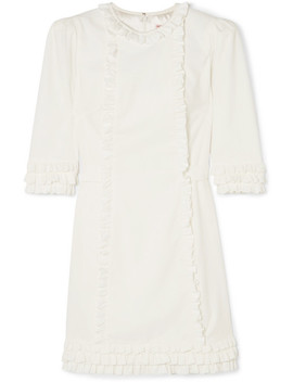 Mini Festival Ruffle Trimmed Cotton Corduroy Dress by The Vampire's Wife