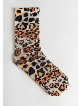 Sheer Leopard Print Ankle Socks by & Other Stories