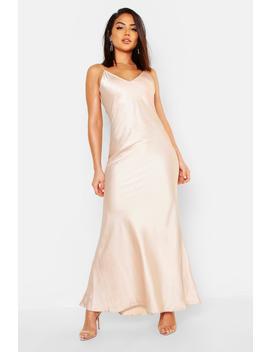 Satin Strappy Maxi Dress by Boohoo