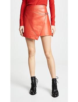 Asymmetrical Vegan Leather Skirt by Blank Denim