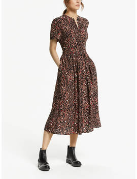 Somerset By Alice Temperley Leopard Print Shirt Dress, Brown/Multi by Somerset By Alice Temperley
