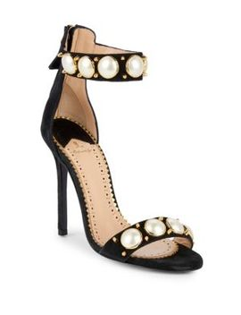 Suede High Heel Sandals by Louis Leeman