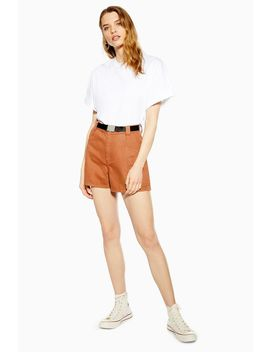 Rust Utility Belted Denim Shorts by Topshop